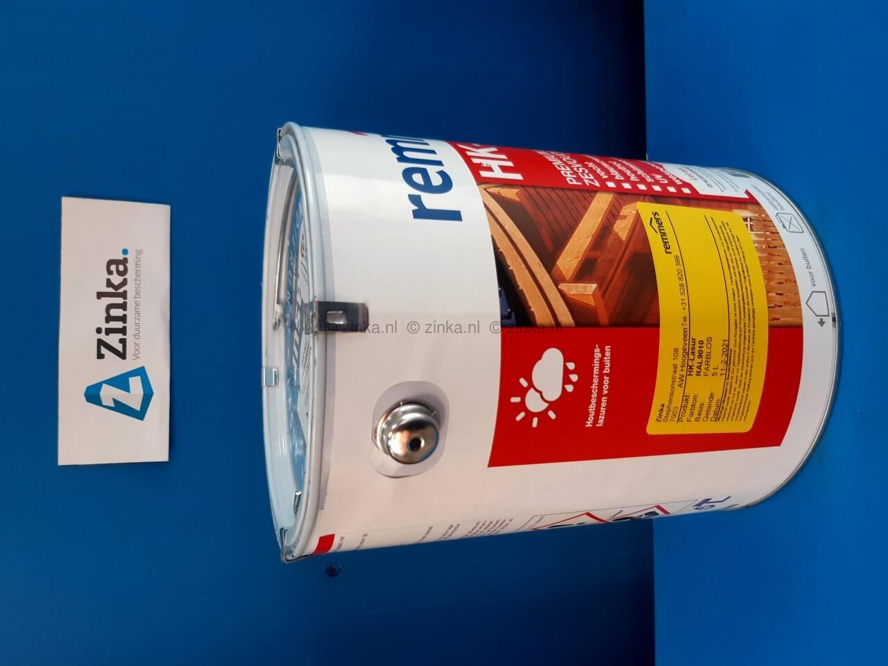 HK Lazuur - magazijn verkoop - RAL 9010 5 liter
