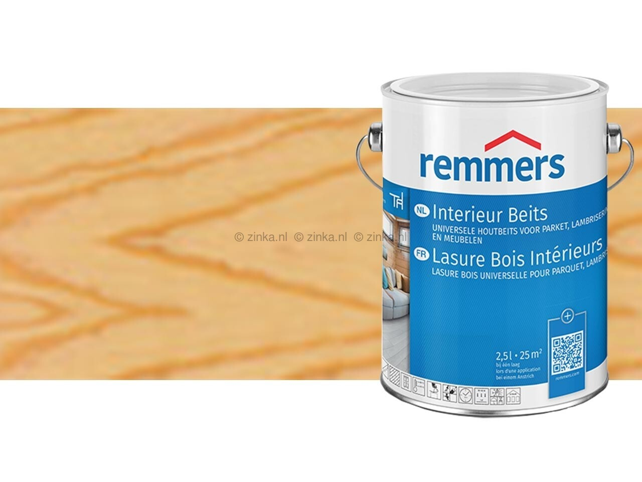 Interieur beits kleurloos 2,5 liter