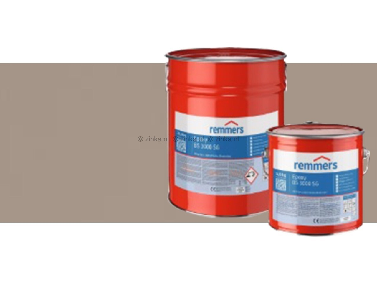 Epoxy BS 3000 SG zijdeglans zilvergrijs RAL7001 25 kilo