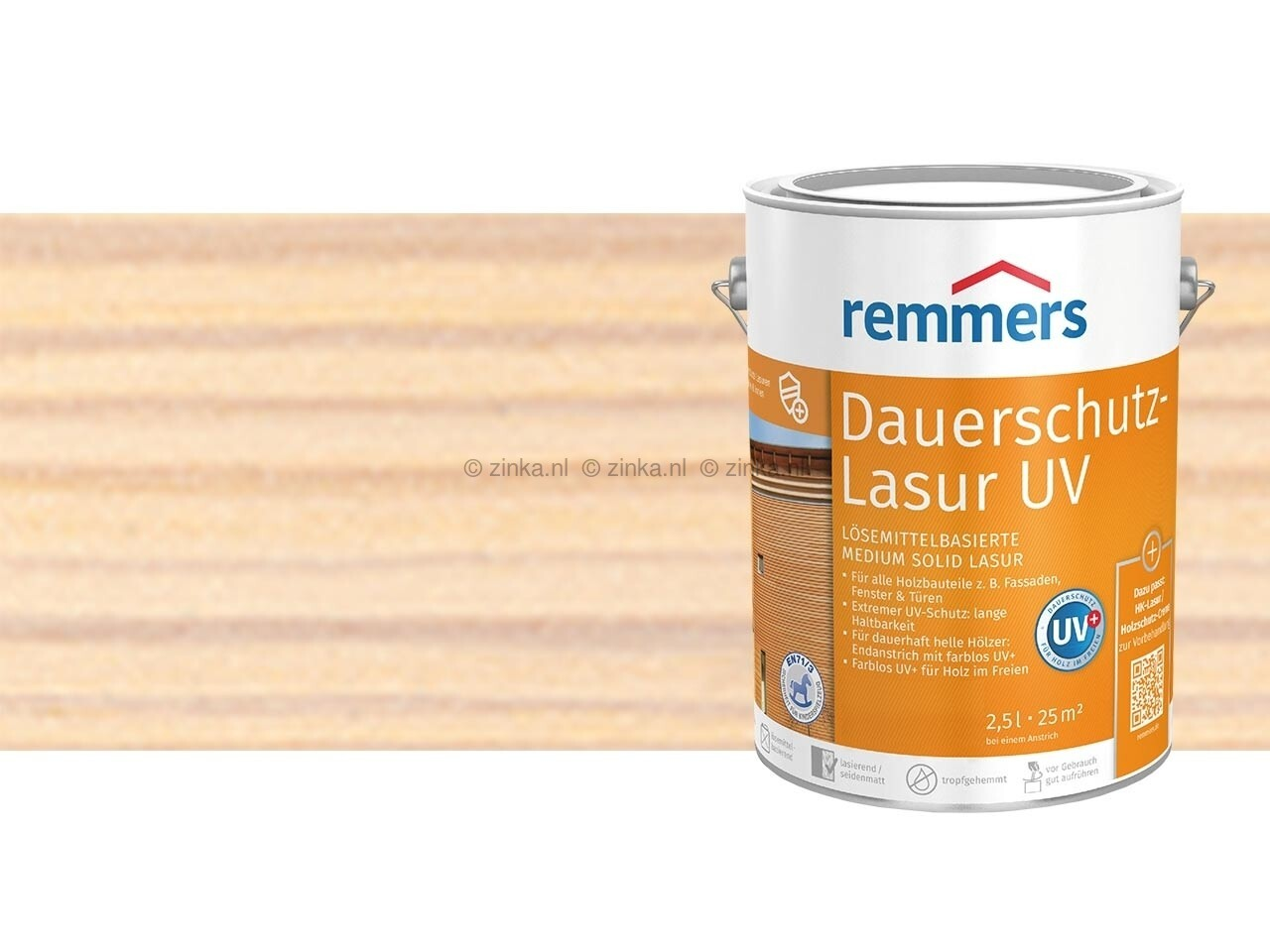 Houtbeits Long Life UV voorheen L-Lazuur UV ZK 2235 wit