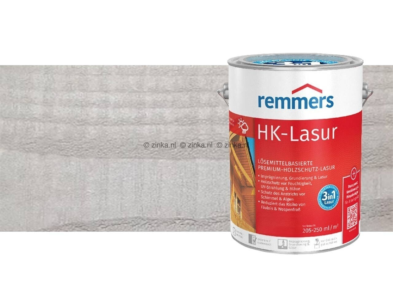 HK-Lazuur Zilvergrijs 20 liter