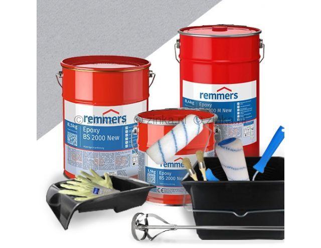 complete set garagevloercoating Lichtgrijs RAL 7035