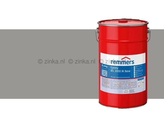 Epoxy BS 3000 M zijdemat zilvergrijs RAL7001