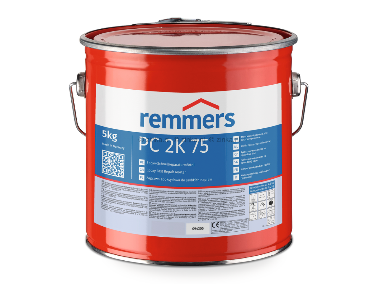 Remmers PC 2K 75 : Snelle, epoxy reparatiemortel | Remmers